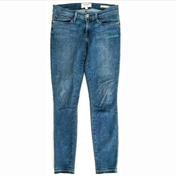 Frame Denim Denim - Frame Denim Womens Jeans Le Skinny De Jeanne Crop